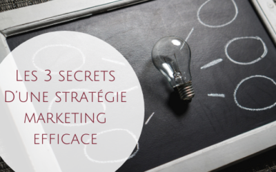Les 3 secrets d'une stratégie marketing efficace
