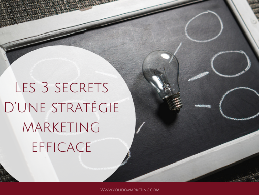 Les 3 secrets d'une stratégie marketing efficace